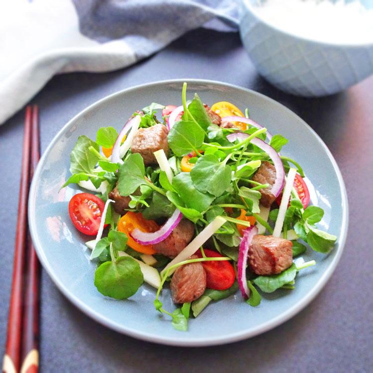 Vietnamese Beef and Watercress Salad – Bo Xao Sa Lat Soong